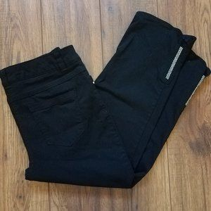 Style & Co Black Stretch Rhinestone Capri Pants